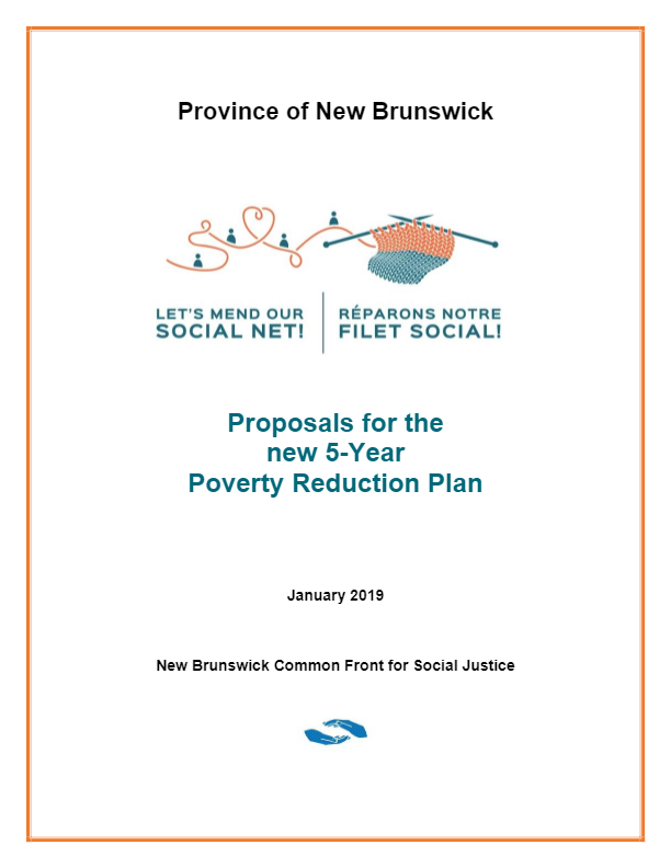 Common Front proposal-Renewal of the Poverty Reduction Plan