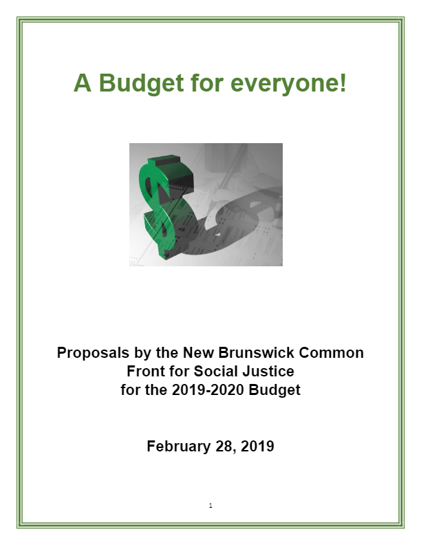Proposals for Provincial Budget 2019-2020